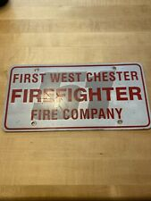 FIRST WEST CHESTER FIREFIGHTER FIRE COMPANY TAG