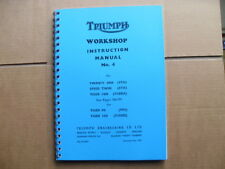TRIUMPH T21 3TA 5TA T100A 1957-1963 FACTORY WORKSHOP MANUAL+ T90 T100 SUPPLIMENT
