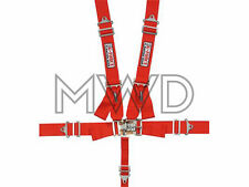 G-Force Red Pro Series 5 Point Shoulder Harness Racing Seat Belts SFI 16.1