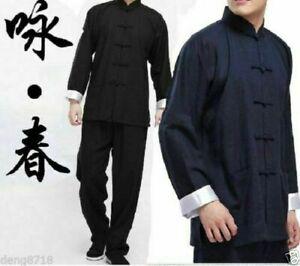 Kung Fu Wing Chun Tai Chi Martial Bruce Lee Arts Uniform Costume Suits Chinese