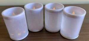 4pc Flameless Candles Battery Operated Flickering LED light Plastic 4''