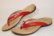 Vionic Bella II Womens 9 41 Narrow Red Flip Flops Thongs Sandals Flats Shoes