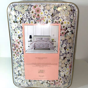 New KATE SPADE NEW YORK Flower Daisy garden Deco FULL/QUEEN 3pc Comforter Set