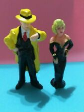 Disney Applause - Dick Tracy & Tess Rubber Action Figure - Vintage Toy - 1990