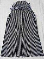 Men's Black & Gray Japanese UMANORI HAKAMA w/Stripes B842