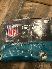 Miami Dolphins Christmas TREE SKIRT Holiday Decoration NFL Football Team