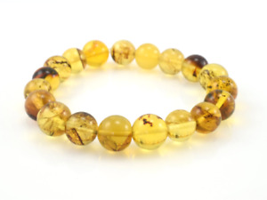 Dominican Amber Bracelet Beads Natural Gemstone Authentic 11.09 mm (11.9 g) a83
