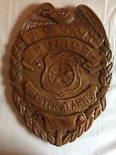 UNITED STATES NAVY MAA MILITARY POLICE BADGE WALL PLAQUE