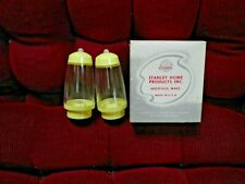 Vintage Usa Stanley Home Products Yellow Ball Point Salt Pepper Shakers Nib!