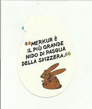 sticker adesivo   MERKUR E' IL PIU' GRANDE NIDO DI PASQUA DELLA SVIZZERA