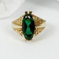 vintage-ring en 585 oro con synth.turmalin