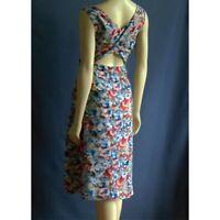 Carmen Marc Valvo Colorful Paint Splatter Cross Back Sun Dress 6