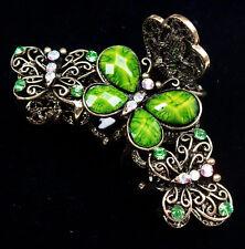 Tibetan Style Golden Hair Clip Beads Lovely Butterfly Shaped #07311615