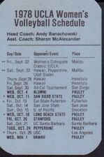 1978 UCLA Women's Volleyball Schedule 101917jh