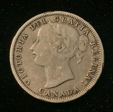 1858 Canada - 20 Cents Silver Coin - Very Good - CA08
