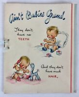 Vintage 1950s Hallmark New Baby Girl Booklet Greeting Card Scrapbooking Crafts