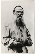 1978 Leo Tolstoy Russian Writer Author Real Photo RPPC Russian postcard