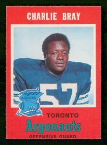 CHARLIE BRAY 1971 O-PEE-CHEE CFL NO 9 EXMINT  30451
