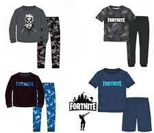 Boys Kids Children Teenage Fortnite 100% Cotton Pyjamas Pjs Set Age 6-16 years