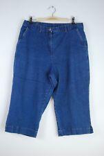 Mirror Image Women's Elastic Waist Capri Cropped Jeans - Size L