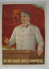Vintage Soviet Russian Poster, 1950 very  RARE>RARE>RARE  100% original