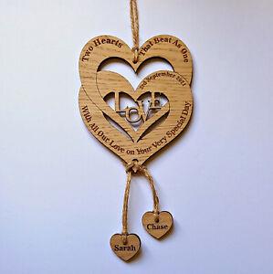Personalised Anniversary Wedding Valentines day Gift Husband Wife Boy Girl