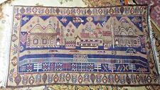Tapis afgan kabul en laine fait main années 80/ larg 120 prof 80 cm