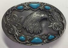 Pewter Bald Eagle Belt Buckle Nice Vintage 1992 Arroyo Grande