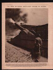 WWI Gun Canon Pièce de 320 / King George V Trenches England UK 1917 ILLUSTRATION