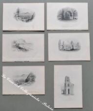 SICILIA – PALERMO. Serie di 6 finissime incisioni su acciaio. Barlett, ca 1850