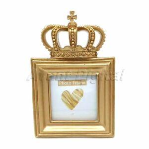 1 Pc Luxury European Style Gold Crown Resin Desktop Photo Frame Home Decorative