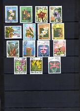 LAOS  lot de 15 timbres fleurs