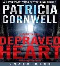 Patricia Cornwell, Scarpetta Novel Depraved Heart, unabridged, 15 hours, 13 CDs