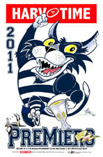 HARV TIME 2011 AFL GRAND FINAL POSTER GEELONG LIMITED EDITION