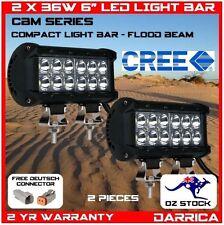 "2 x 36W 6"" CREE LED light bar bottom mount adjustable brackets 4wd camping"
