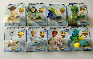 Toy Story 4 Hot Wheels Character Cars Complete Set of 8 Movie 2019 Disney Pixar