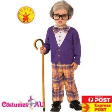 Boys Grandpa Little Old Man Geezer Child Costume Kids 100 Days Party Book Week