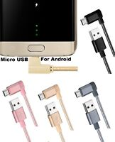 90 Degree Micro USB Fast 2A Data & Sync Charger Cable For Amazon Kindle Fire HD