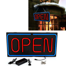 """24""""x12"""" Horizontal Neon Open Sign Light Business Clubs Hanging Chain Bright Sign"""