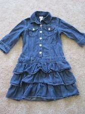 Justice girls jean dress ruffled skirt size 8