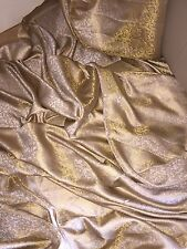 "5 MTR (NEW) BEIGE/GOLD BROCADE FABRIC...45"" WIDE £19.99 SPECIAL OFFER"
