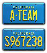 The A-Team / Hannibal Faceman Mr. T / *Stamped* Vanity Prop License Plate Combo