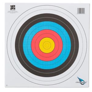 ARCHERY HEAVY DUTY FITA APPROVED PAPER TARGET SET 40CM X 40CM - 12PK
