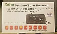 Kaito KA332W Emergency Radio/Flashlight/SolarCrank/USB/Batt   BLK