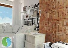 "1 pack(4panels) ""cube2"" Original Decorative Wall Panels , Natural Wood , FSC"