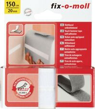 Touch Fastener Self Adhesive White 1500x20mm Touch Fastener