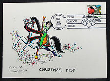 US Illustrated White Cover FDC Holiday Christmas Stamp USA Ersttagsbrief (H-7245