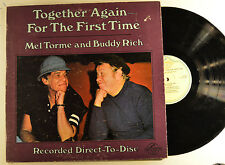 mel torme and buddy rich lp together again.. direct to disc  vg+/vg+