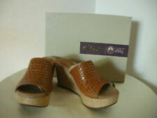 Authentic Clarks Caslynn Dylan Women's Wedge Sandals Size 7 Brown