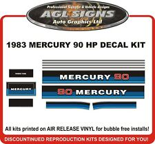 1983  MERCURY 90 hp Reproduction outboard decal set   70 hp and 80 hp available